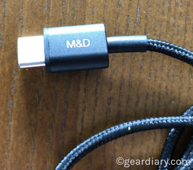 GearDiary Master & Dynamic USB-C to 3.5mm Audio Cable Is a Great Accessory