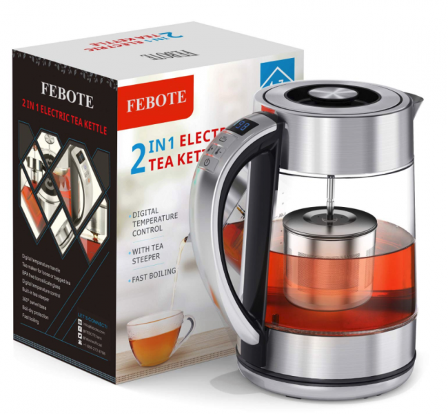 FEBOTE Electric Tea Kettle Lets You Control the Temperature Digitally