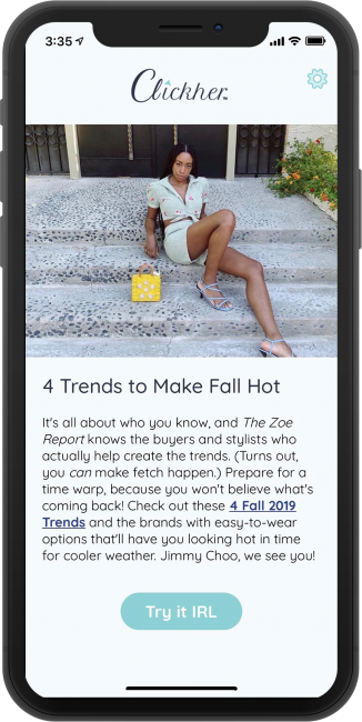 Clickher Wants to Bring a Human Touch to Fashion Articles