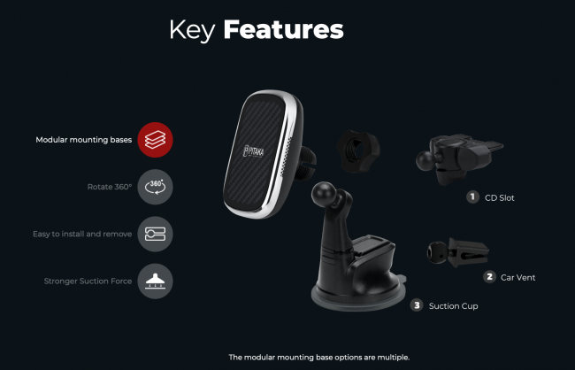 Pitaka MagEZ Mount Qi Lets Your Phone Go Places