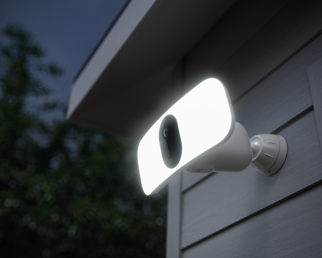Arlo Pro 3 Floodlight: Powerful LED Lighting, Integrated HDR Camera, and a Built-In Siren for Security