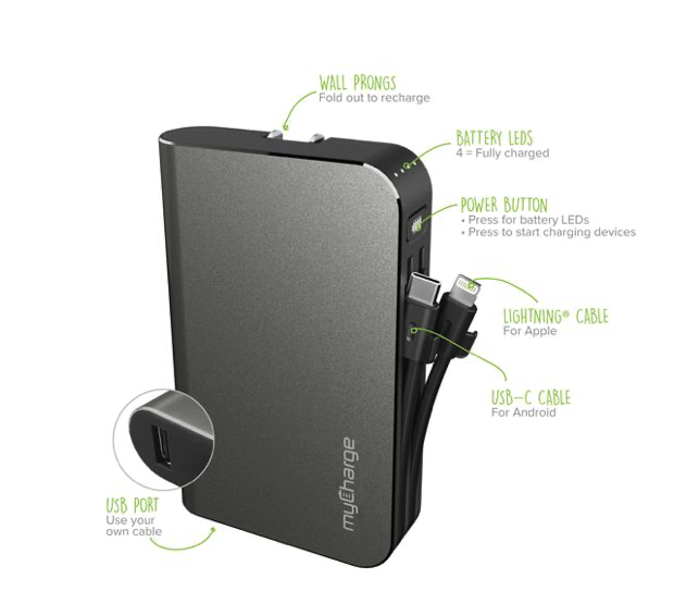 10,050mAh MyCharge Hub Turbo Is an All-You-Need All-in-One Battery Pack