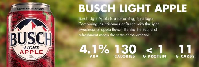 Busch Light Apple: Crisp and Clean on a Hot Summer Day