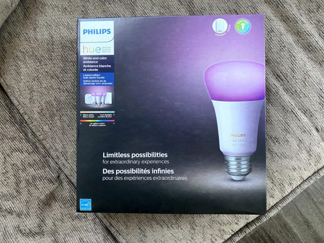 Philips Hue White and Color Ambiance Smart Bulb Starter Kit Is an Intelligent Lighting Solution