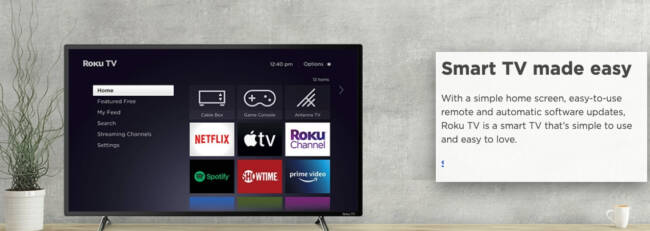 Roku Announces That It Is the #1 Selling Smart TV Operating System in the US and Canada