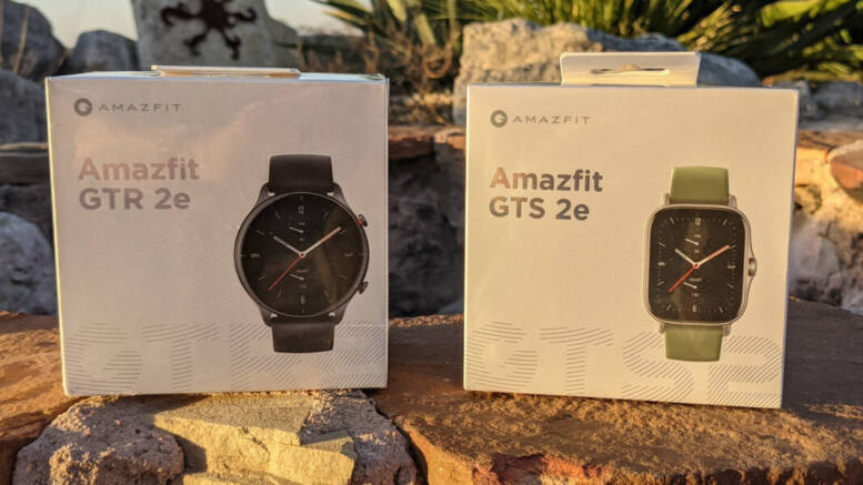 Amazfit GTR 2e and Amazfit GTS 2e