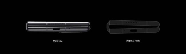 Huawei Mate X2 compared to Samsung Galaxy Fold 2